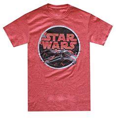 Star Wars Men's X-Wing Fighter Circle T-shirt (Medium, Red Heather)