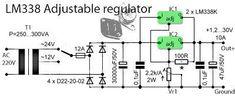 Zasilacz regulowany na dwóch LM338 10A
