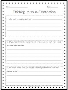 Printables Economics Worksheets warm activities and economics on pinterest i would use this worksheet as an introduction to help students gain confidence show that they do have some knowledge of