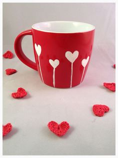 Love grows coffee cup espresso cup or mug by WhimsicalUK on Etsy, Valentine Treats, Valentine Day Gifts, Espresso Cups, Coffee Cups, Coffee Mug Quotes, Diy Mugs, Latte Art, Simple Things, Tumblers
