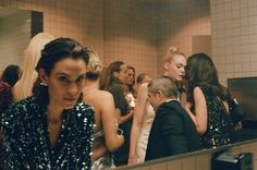 Cass Bird Photographs the Ladies' Bathroom at the Met Gala 2016. Alexa Chung, Thakoon Panichgul, and Elle Fanning.