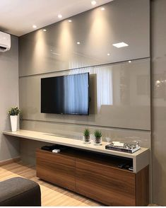 Living room tv wall decor bathroom 23 Ideas for 2019 Tv Unit Decor, Tv Wall Decor, Wall Tv, Living Room Interior, Home Interior Design, Living Room Decor, Apartment Interior, Living Rooms, Tv Rooms