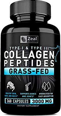 Pure Collagen Peptides Collagen Pills 360 Capsules 100 Grass Fed Collagen Protein Powder Hydro Collagen Pills Hydrolyzed Collagen Powder Collagen Peptides