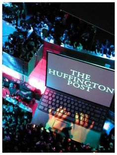 Check out projection at its finest at The Huffington Post party!