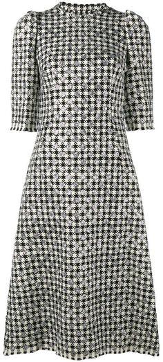 Dolce & Gabbana houndstooth polka dot dress