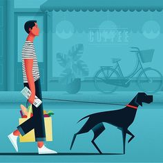 Woof. Deanna Halsall's folio is there for the perusing on the CIA site... #deannahalsall #centralillustrationagency #lifestyleillustration #dogillustration #dogs #pets #petillustration #editorialillustration #advertisingillustration