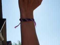 Three Shades of Purple Candy Stripe Bracelet by SaxophoneChick, $5.00