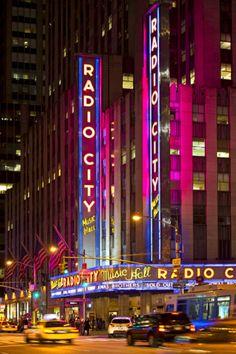 Radio City Music Hall At Times Square - NYC Photographic Print by Philippe Hugonnard at Art.com New York City NYC