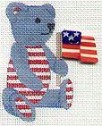 Mini Bear with Flag