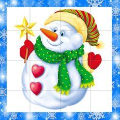 Puzzles, Christmas Worksheets, Pre School, Xmas, Winter, Outdoor Decor, Carnival, Noel, Snowman