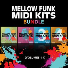 Equinox Sounds has released Mellow Funk MIDI Kits Bundle Vol 1-4, a collection of 4 most popular midi loops construction kits for genres like: funk, jazz, soul, rnb and lounge music.