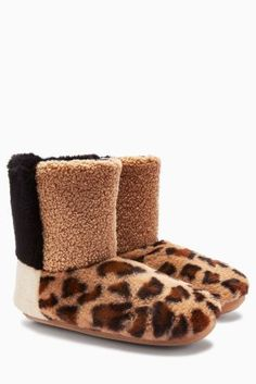 abd90c56e13 Buy Faux Fur Patch Boots from the Next UK online shop