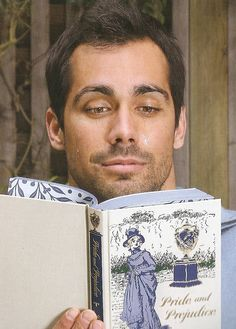 a man reading Jane Austin! Will he read Adoption Detective: Memoir of an Adopted Child next? @ Judith Land