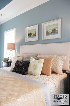 Master Bedoom | Rosemont | Vacant Home Staging | Staged by Design® #homestaging #masterbedroom