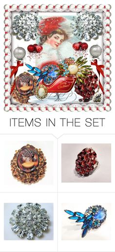 With Lots Of Goodies On His Sleigh by pattysporcelainetc on Polyvore featuring art and vintage