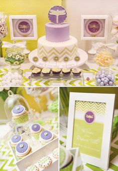 Love the Chevron details!! Dragonfly Inspired Baby Shower {Ombre Chevron Stripe}