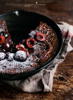 CLAFOUTIS WITH COCOA AND CHERRIES