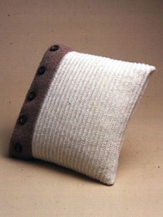 Buttoned Up Pillow | Yarn | Free Knitting Patterns | Crochet Patterns | Yarnspirations