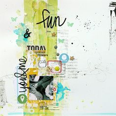 & you & fun by mumkaa at Scrapbook Journal, Scrapbook Cards, Scrapbook Photos, Scrapbook Templates, Scrapbook Albums, Crate Paper, Studio Calico, Monday Inspiration, Layout Inspiration