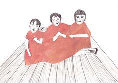 Sisters - Illustration Print. $7.00, via Etsy.