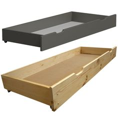 ✔ There is always need for additional #storage space. If you are running out of it we got you covered. We offer storage #drawers which fit under many types of beds and are spacious enough to store all your knickknacks. #bedroomfurniture #pinewood 💚