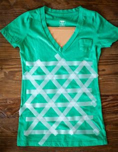 como customizar camiseta com triângulos