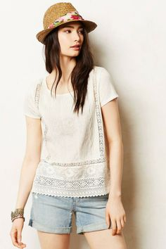 Anthropologie Lace Collage Tee