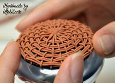 Photo tutorial for Basket Weaving with polymer clay by Alek Santa