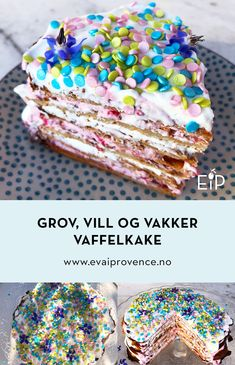GROV, VILL OG VAKKER VAFFELKAKE – EN KAKE FOR DEG SOM IKKE LIKER Å BAKE! Frisk, Bon Appetit, Cereal, Baking, Breakfast, Food, Morning Coffee, Bakken, Meals