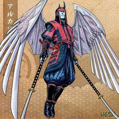 Arcangel by Lucas Pereira Marvel Comic Character, Man Character, Spiderman Vs Superman, Rogue Gambit, Monster Concept Art, Japanese Warrior, Man Child, Art Series, Xmen