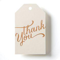 Picture Perfect Papier on #Etsy #gifttag #thankyou #wedding #anniversary #thankyougift #weddinginspiration #goldwedding