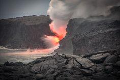 Kilauea Lava - Kilauea eruption on Big Island Hawaii