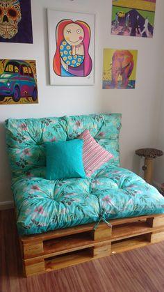 Easy Home Decor, Diy Room Decor, Bedroom Decor, Balcony Furniture, Pallet Furniture, Diy Sofa, New Room, Room Inspiration, Home Crafts