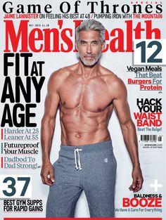 Men's Health Magazine, Male Magazine, Mens Health Uk, Mans Health, Health Plus, Pumping Iron, Older Men, Gain Muscle, Muscle Men