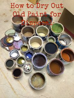 Are you spring cleaning? I have an easy tip on how to dry out old paint for disposal, and it's firemen and disposal center approved!