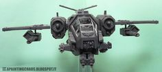 Salamander Storm Talon, wings adjusted, wing-slung guns are fitted with magnets to change up the armament. Warhammer 40k, Space Marines