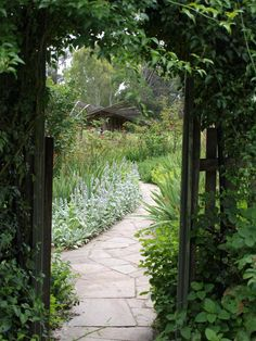 Entrance to the kitchen garden at Heide