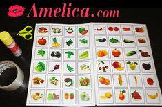 Lotto saját kezűleg a gyerekeknek, a játék körül zöldség