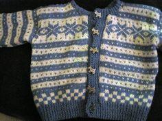 Norwegian knitted baby jacket (nøstebarn)