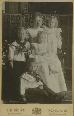 Princess Margaret of Prussia and her sons.