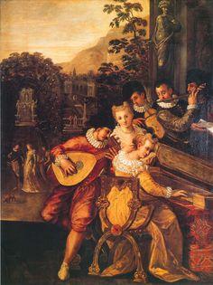 Ludwig Toeput (Ludovico Pozzoserrato)  Concert in a Villa Civic Museum, Treviso, Italy ca. 1585-1590