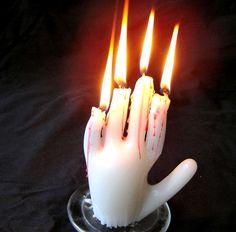 DIY candle hand