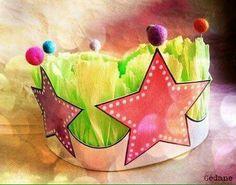DIY : Crown / Couronne des reines et rois, princesses etc. Fun Crafts For Kids, Craft Activities For Kids, Crafts To Sell, Art For Kids, Diy Crafts, Make A Crown, Diy Crown, Felt Crown, Crown Template