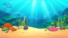 Underwater world, vector art and illustration. Under The Sea Background, Kids Background, Cartoon Background, Animation Background, Landscape Illustration, Illustration Art, Stock Illustrations, Underwater Background, Pizza Art