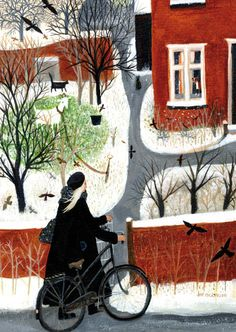 Arriving Home   Green Pebble  Gorgeous card - definitely one for the Christmas list!