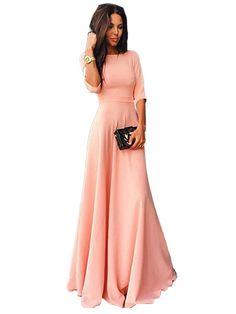 Długa Sukienka Maxi Styl Celebrity Na Imprezę & Dresses - w JollyChic