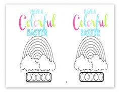 Free Printable Kid's Watercolor Easter