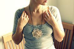 DIY: Fabric Rose Necklace