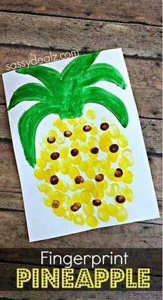 60 creative crafts for small children pinterest craft teacher finger print pineapple solutioingenieria Choice Image