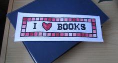 Cross Stitch Bookmarks, Cross Stitch Books, Cross Stitch Fabric, Cross Stitching, Cross Stitch Embroidery, Cross Stitch Patterns, Pdf Patterns, I Love Books, Digital Pattern